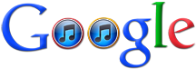 Google logo with itunes logo instead of o letters