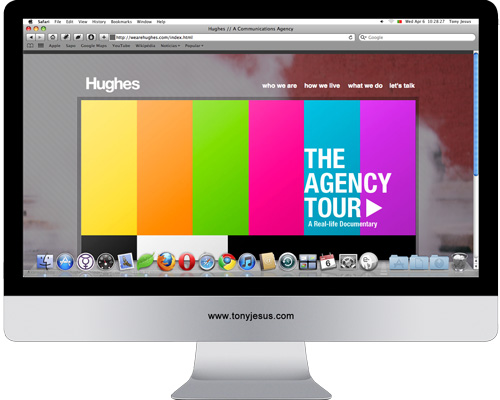 Screenshot of Hughes website