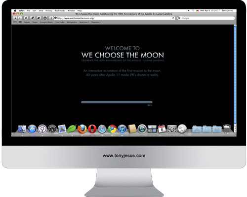 Screenshot fo We Choose The Moon website