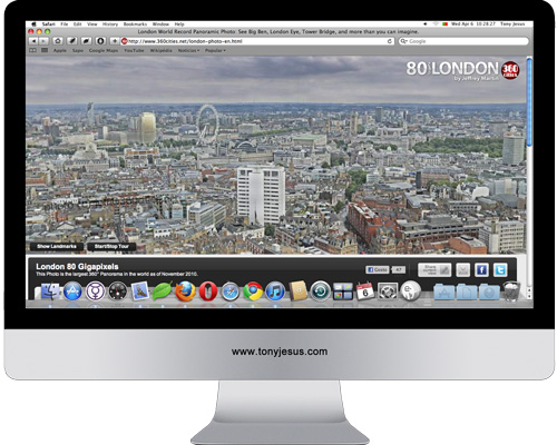 Screenshot of 360 Cities website