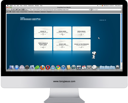 Screenshot of Metlife website