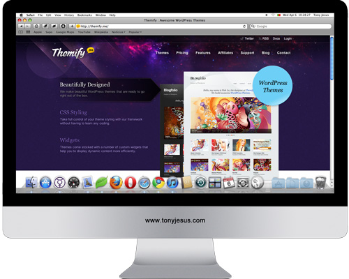 Screenshot of Themify website