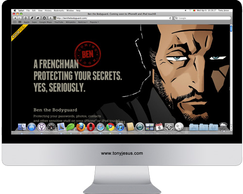 Screenshot of Ben the bodyguard's website