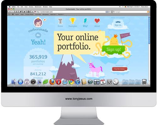 Screenshot of Carbonmade website