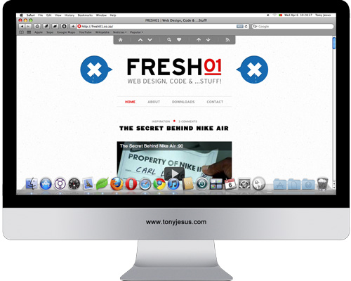 Screenshot of Fresh01 website