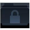Folder with a padlock