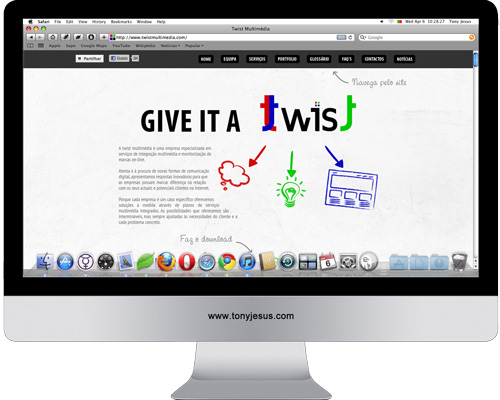 Screenshot of Twist Multimedia website