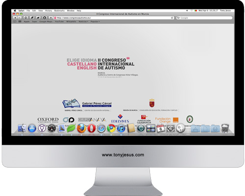 Screenshot of http://www.congresoautismo.es/