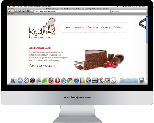 Screenshot of http://www.keithcakes.com.au/