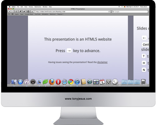 Screenshot of http://slides.html5rocks.com/#landing-slide