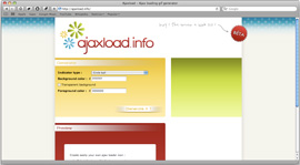 Screenshot of Ajaxload