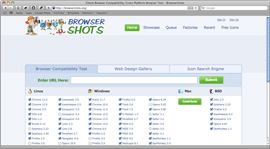 Screenshot of Browsershots