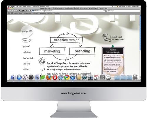Screenshot of Design One