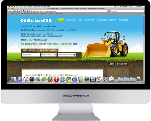 Screenshot of Dirt Brokers USA