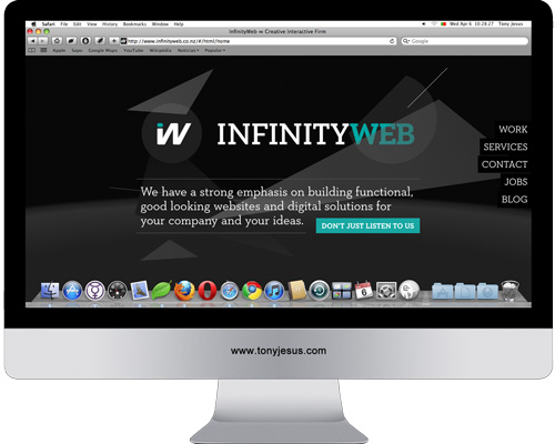 Screenshot of Infinity Web