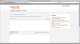Screenshot of Javascript Compressor