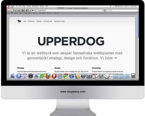 Screenshot of UPPERDOG