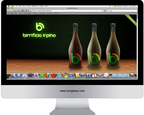 Screenshot of Birrificio Irpino website
