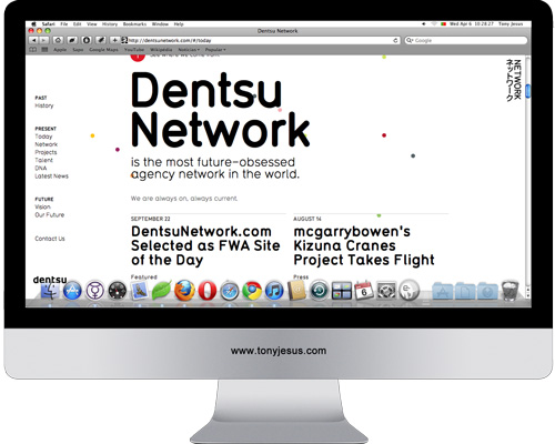 Screenshot of Dentsu Network
