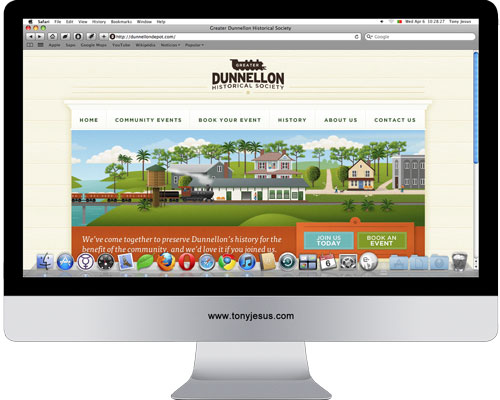 Screenshot  of Greater Dunnellon Historical Society