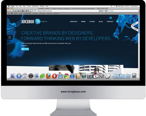 Screenshot of JuiceBox Creative
