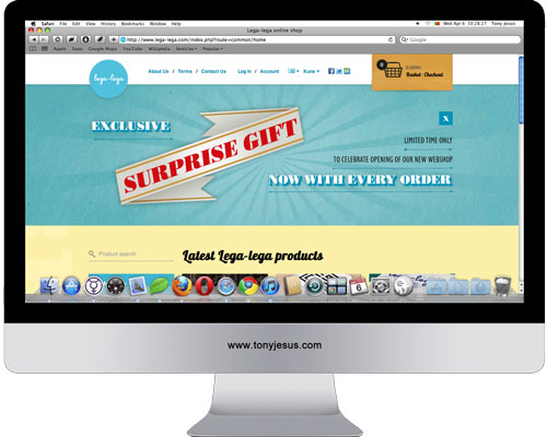 Screenshot of Lega-lega online shop