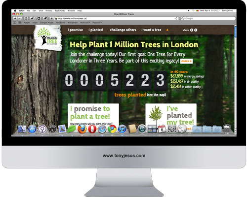 Screenshot of One Million Trees
