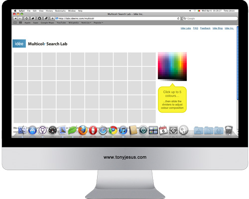 Screenshot of Multicolr Search Lab website