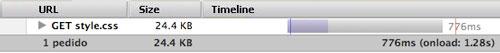 Screenshot of firebug network tab
